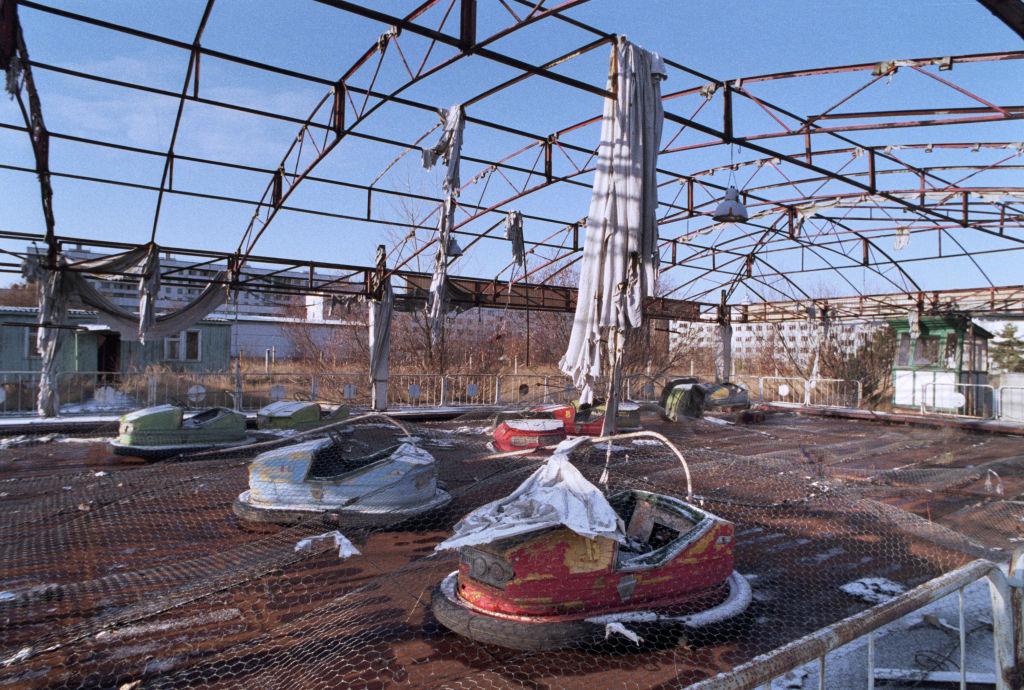 Brinquedo abandonado em Chernobyl