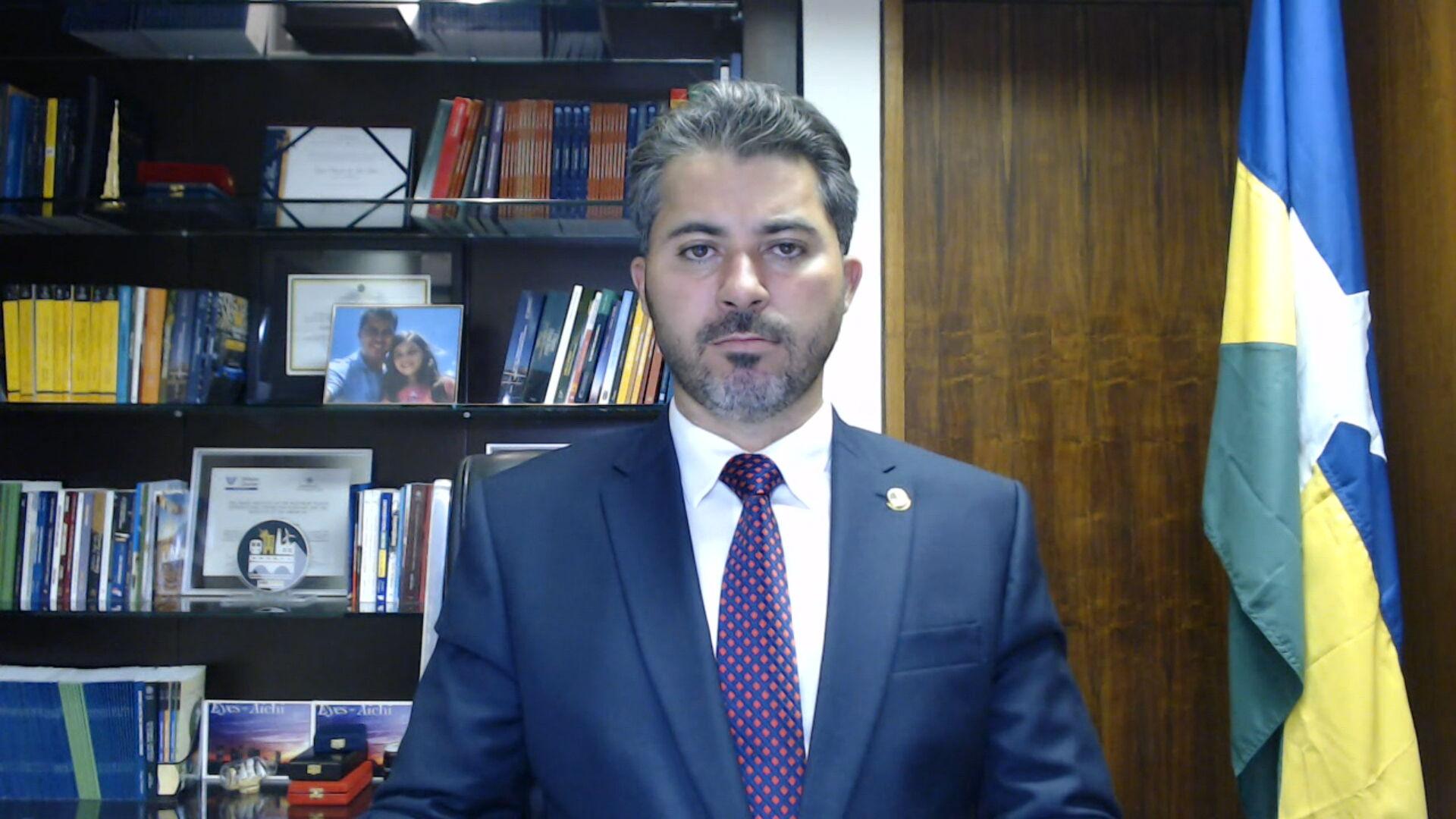 O senador Marcos Rogério falou com a CNN sobre o depoimento de Wajngarten