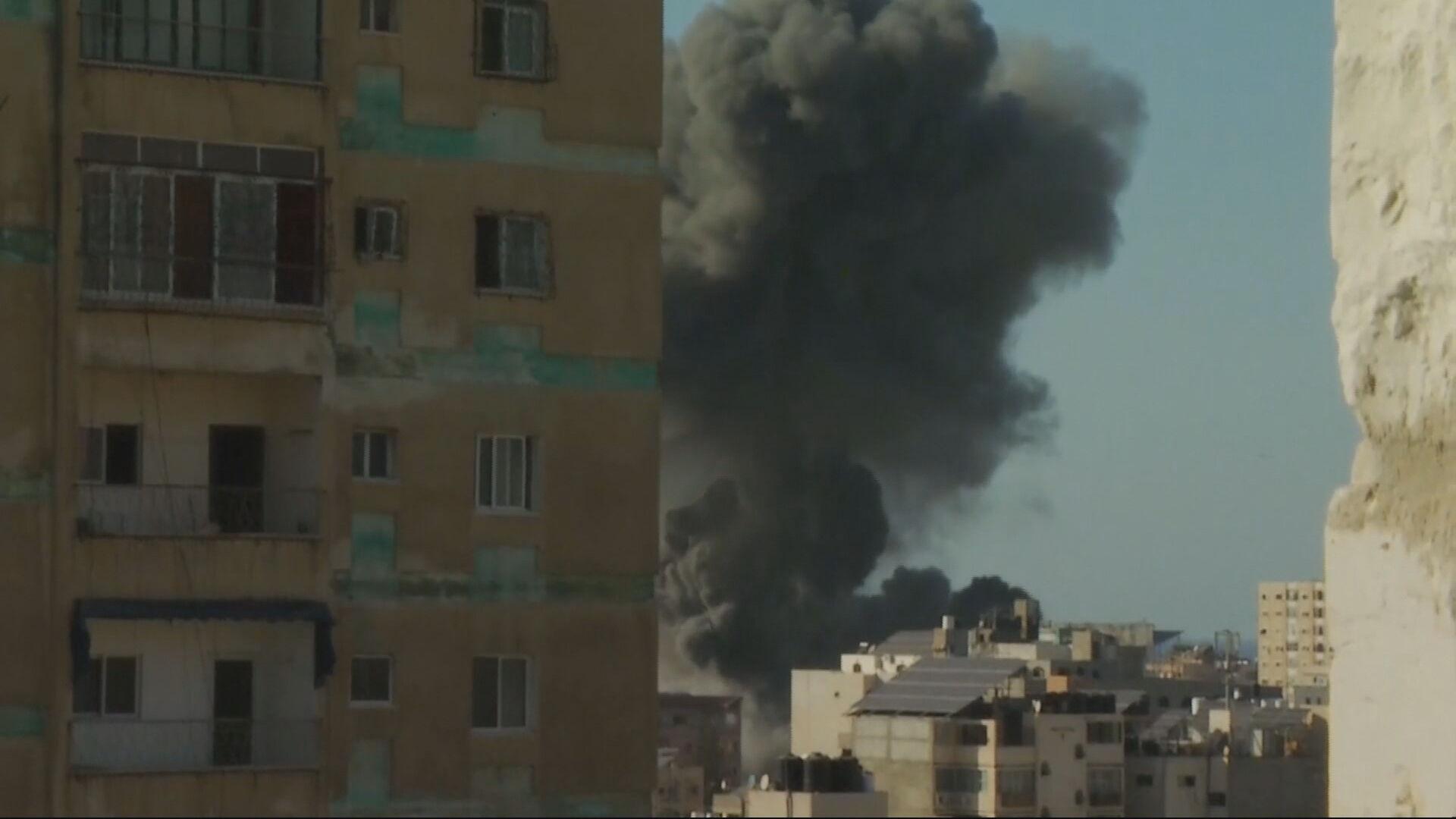 Imagens da CNN registraram momento de ataques na Faixa de Gaza