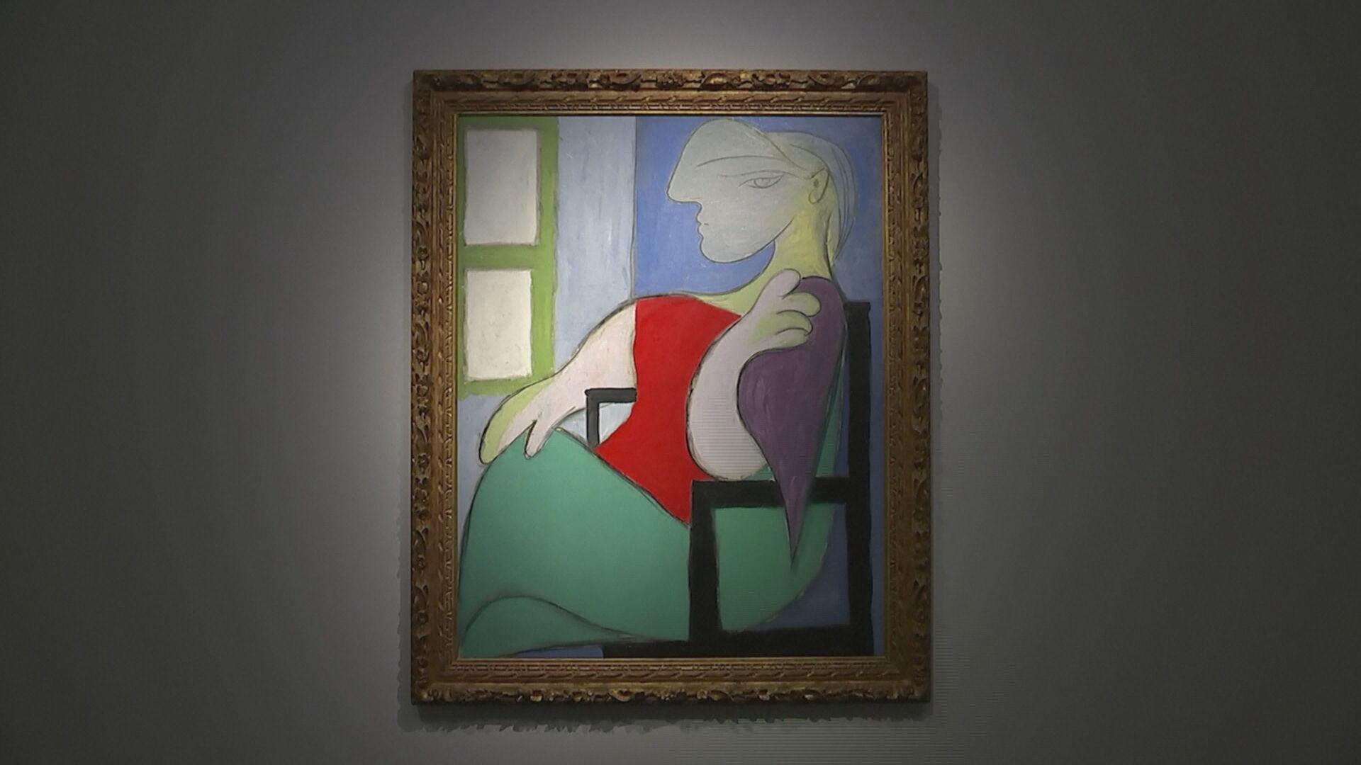 """Quadro """"Mulher sentada junto a uma janela"""" de Pablo Picasso, feito em 1932 (14.m"""