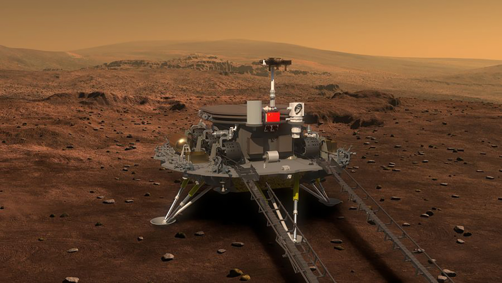Tianwen-1 pousou em Marte