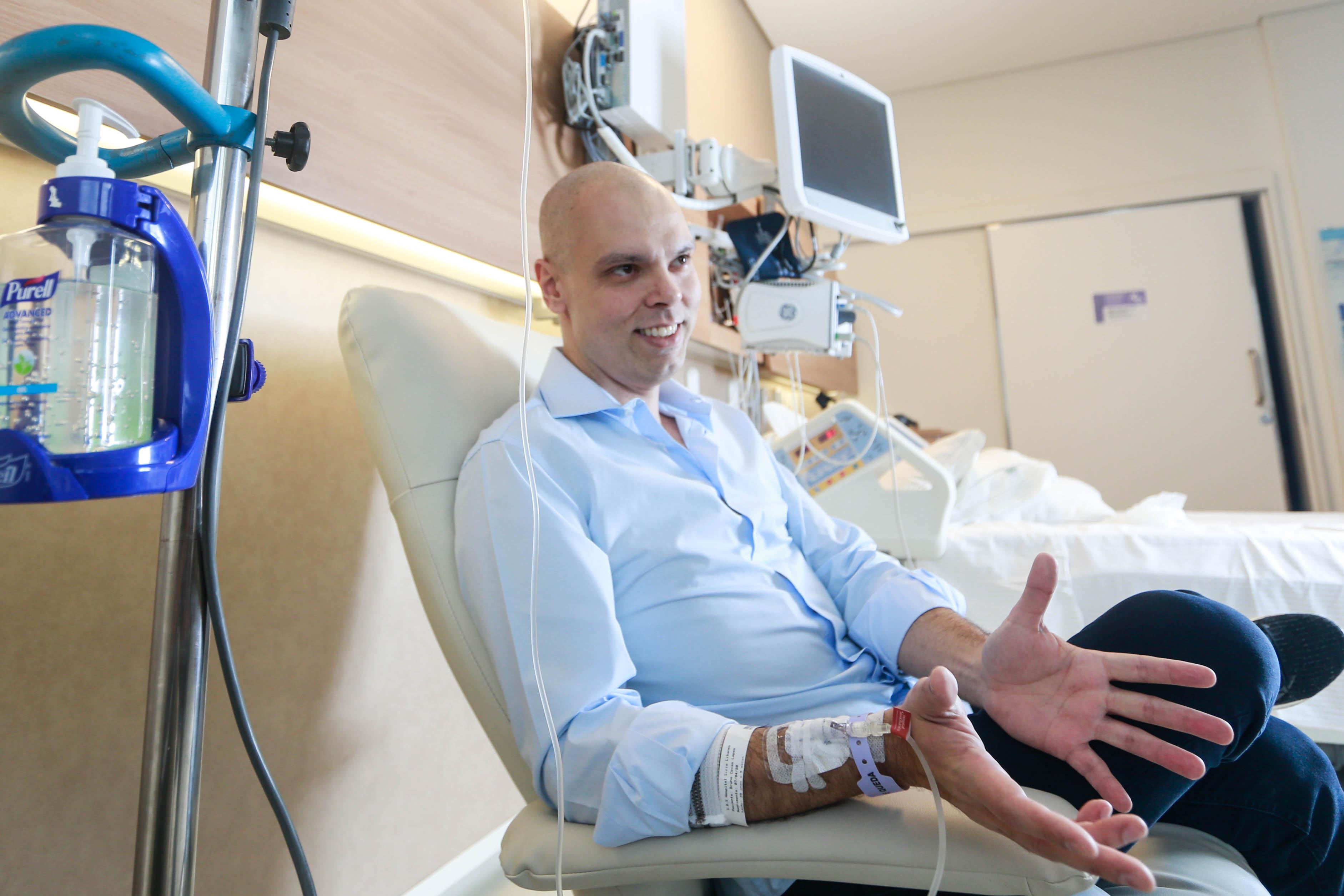 Bruno Covas em tratamento contra o câncer