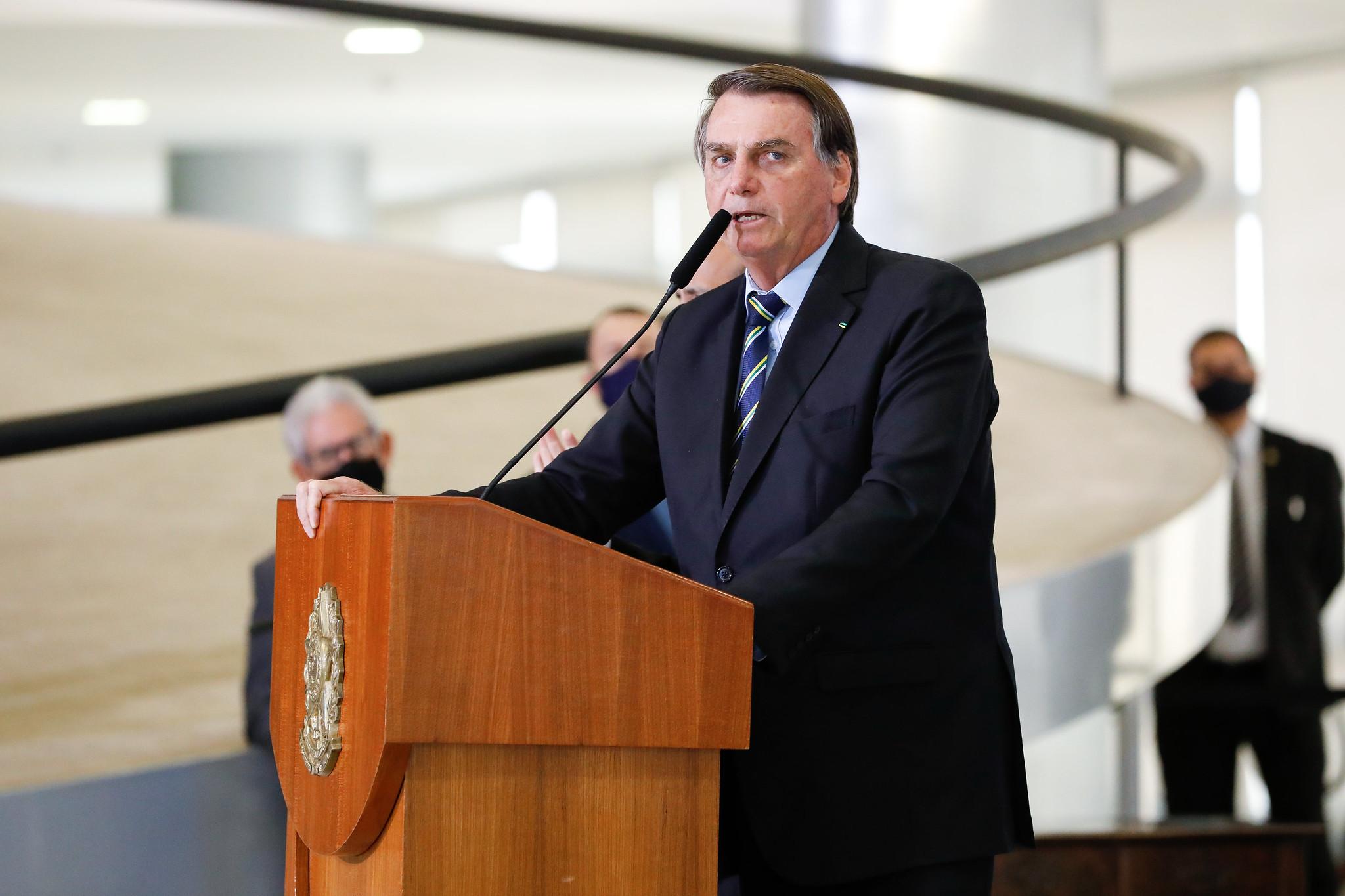 "Presidente Jair Bolsonaro durante anúncio do programa ""Adote um Parque"" - (Brasí"