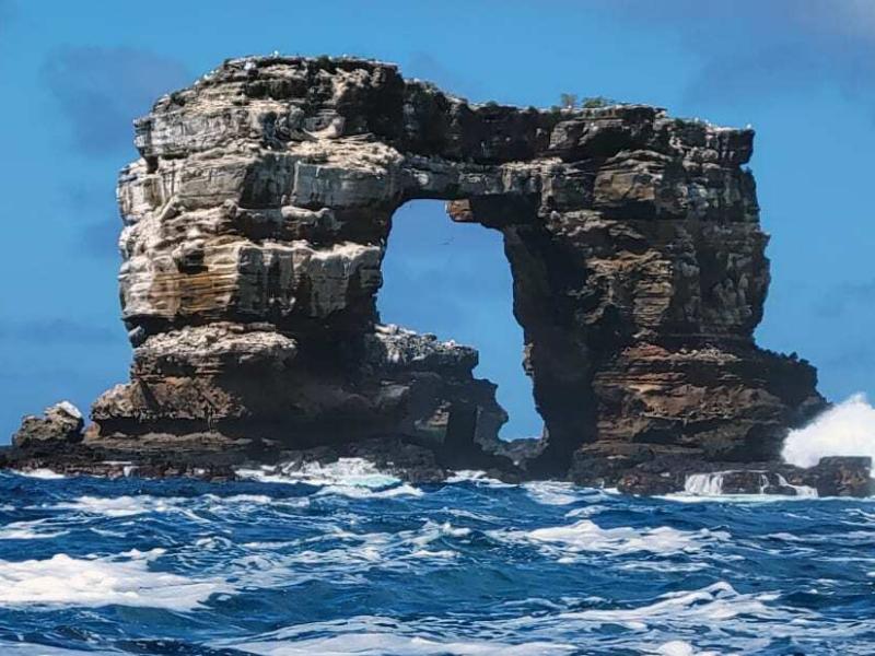 Arco de Darwin, na ilha Galápagos, no Equador