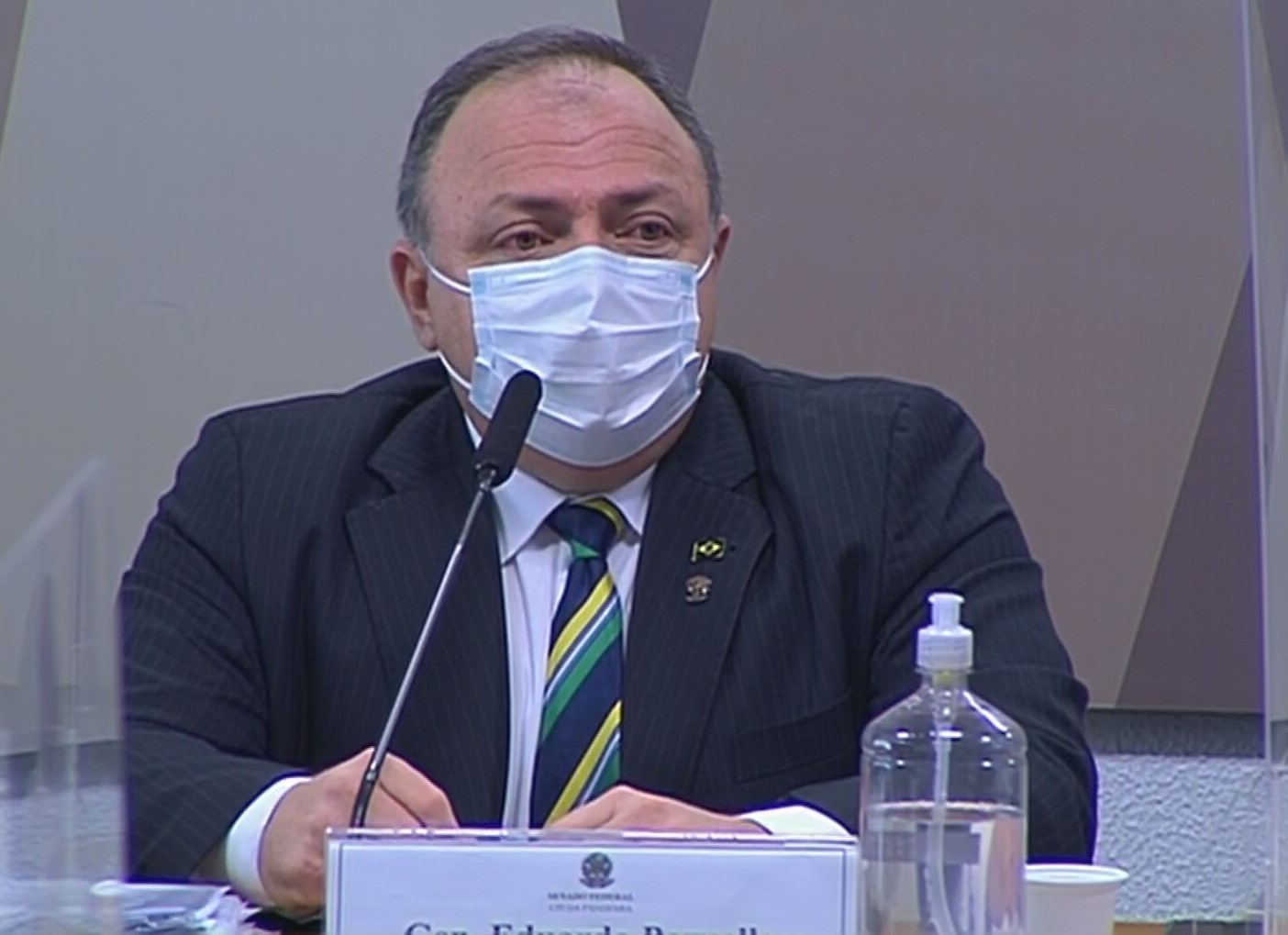 Ex-ministro da Saúde, Eduardo Pazuello, na CPI da pandemia (19 de maio de 2021)