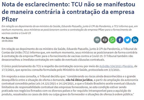 TCU documento