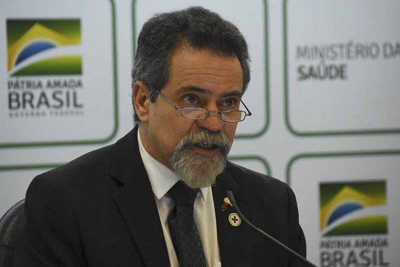 Pronunciamento do secretário-executivo do Ministério da Saúde, Élcio Franco