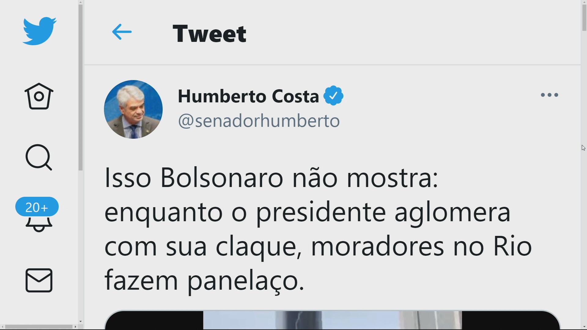 Tweet Senador Humberto Costa (PT-PE)