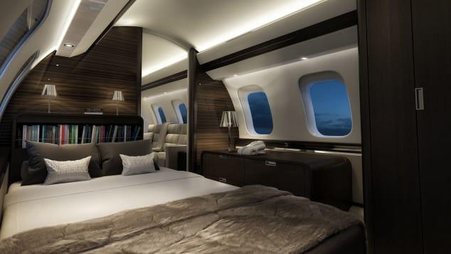 Uma suíte privada a bordo do Global 7500