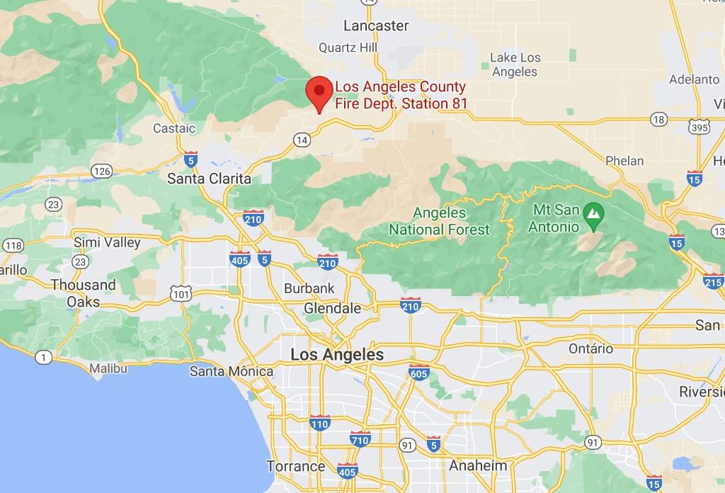 Local do tiroteio registrado nesta terça-feira (1º), próximo a Los Angeles