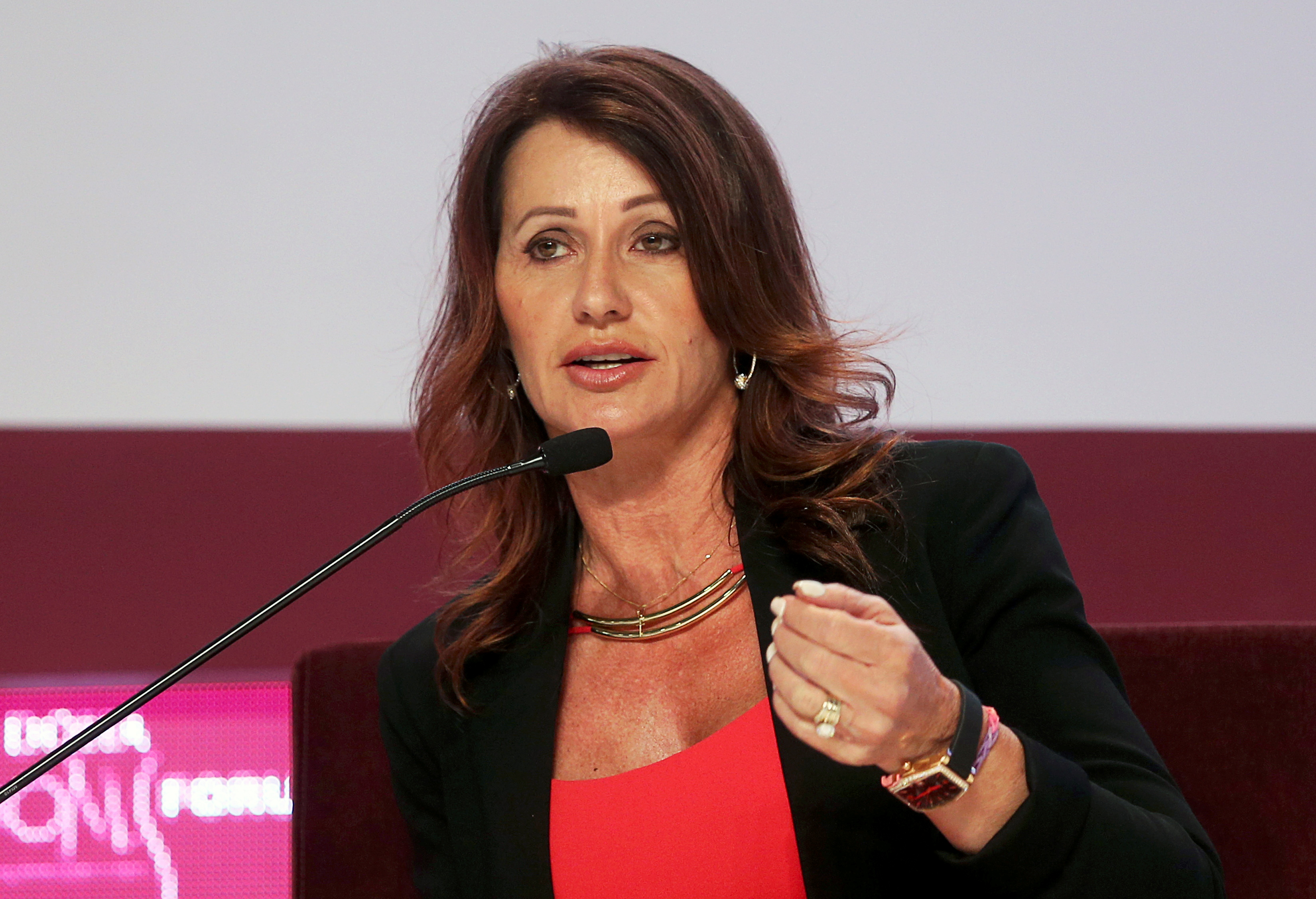 ginasta Nadia Comaneci em Doha 10/12/2013