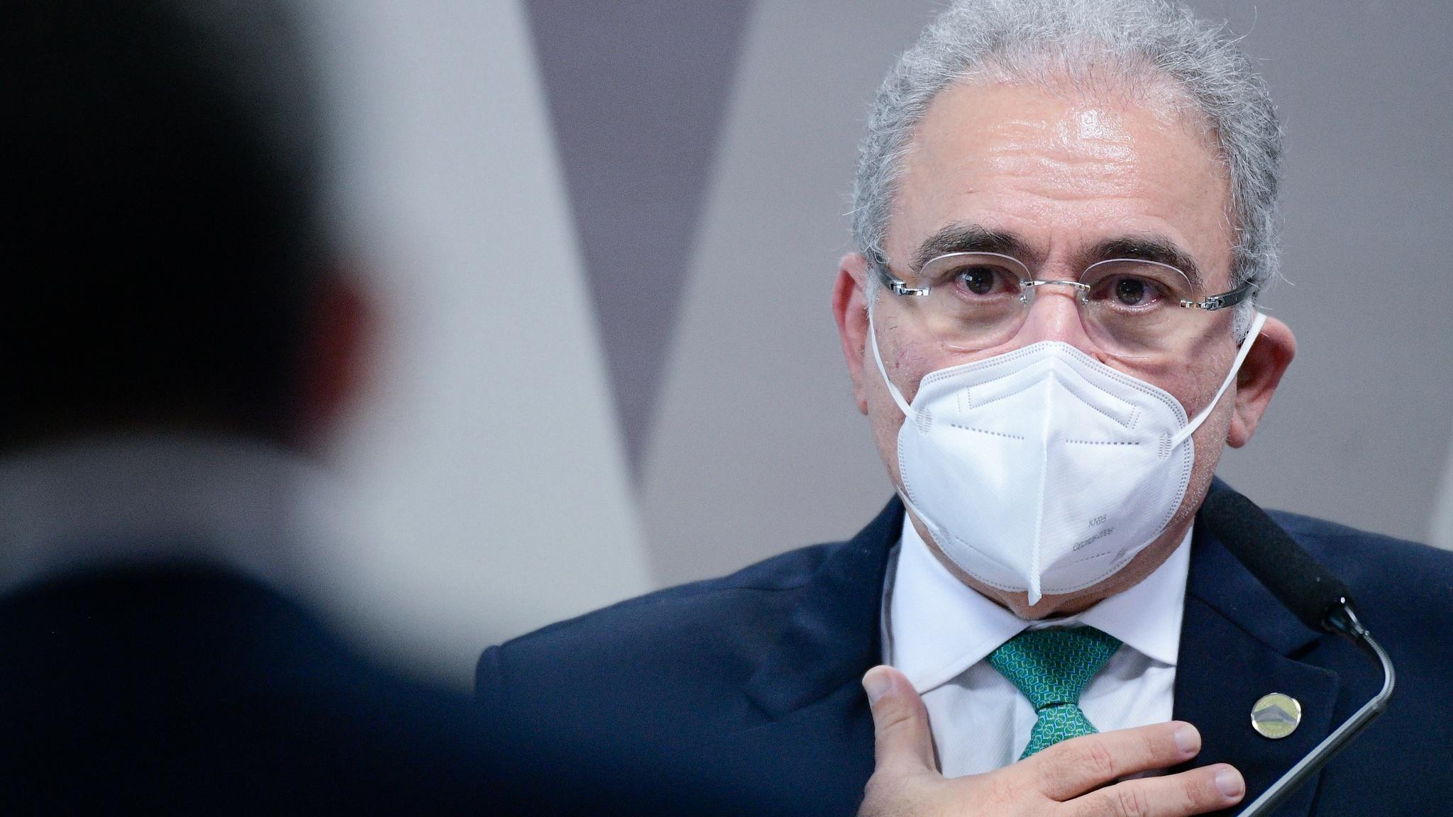 O ministro da Saúde, Marcelo Queiroga, em seu 1º depoimento à CPI da Pandemia