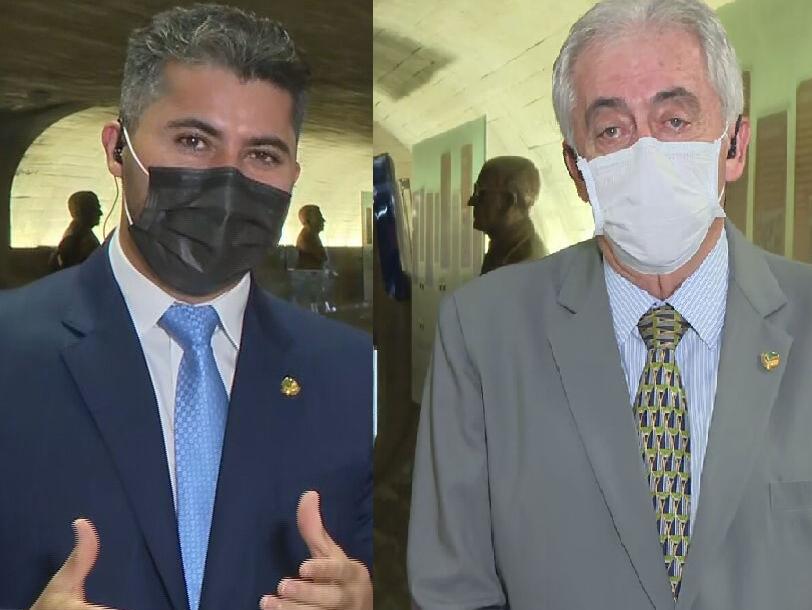 Os senadores Marcos Rogério (DEM-RO) e Otto Alencar (PSD-BA)