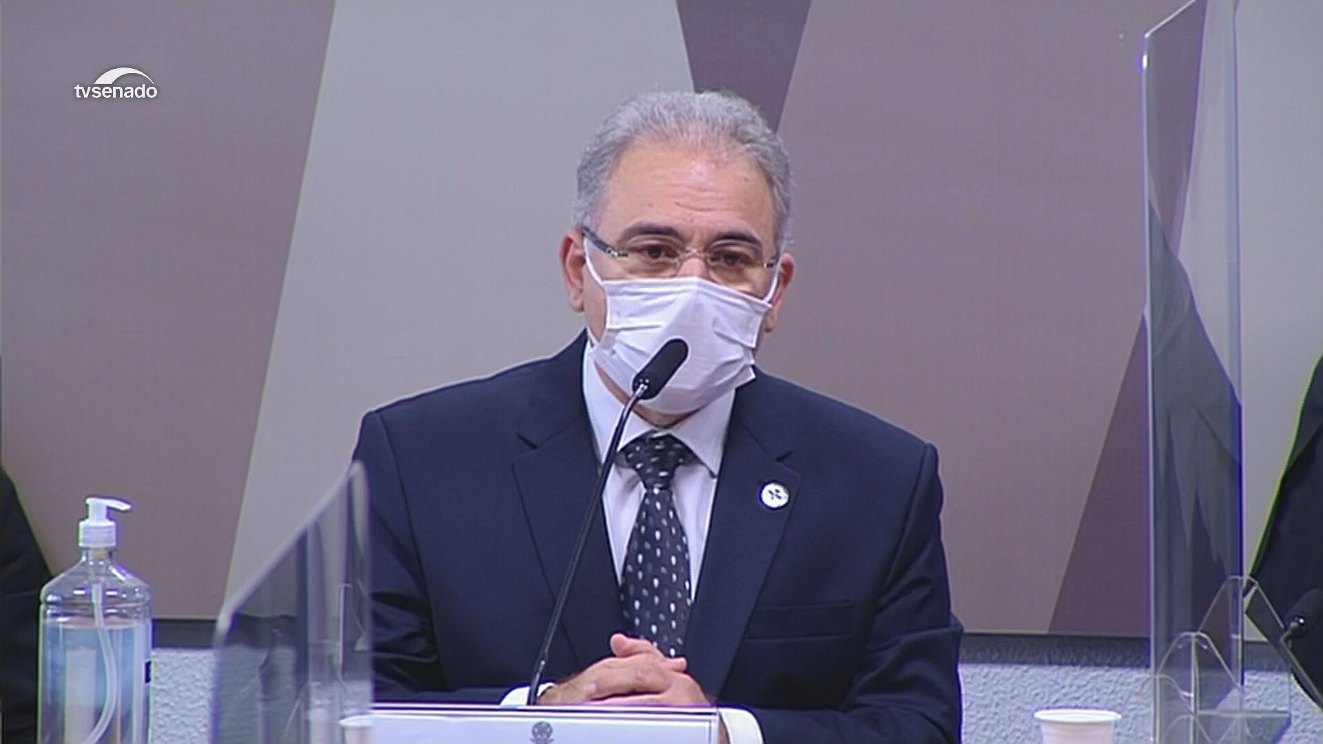 Marcelo Queiroga, ministro da Saúde, presta depoimento à CPI da Pandemia