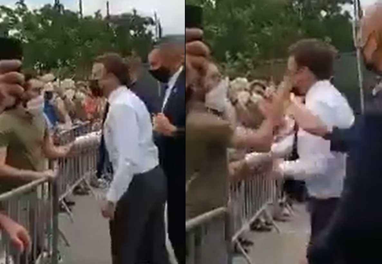 Emmanuel Macron é estapeado