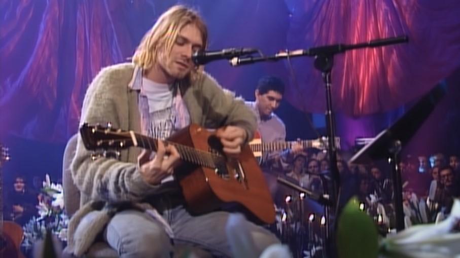 O vocalista do Nirvana Kurt Cobain