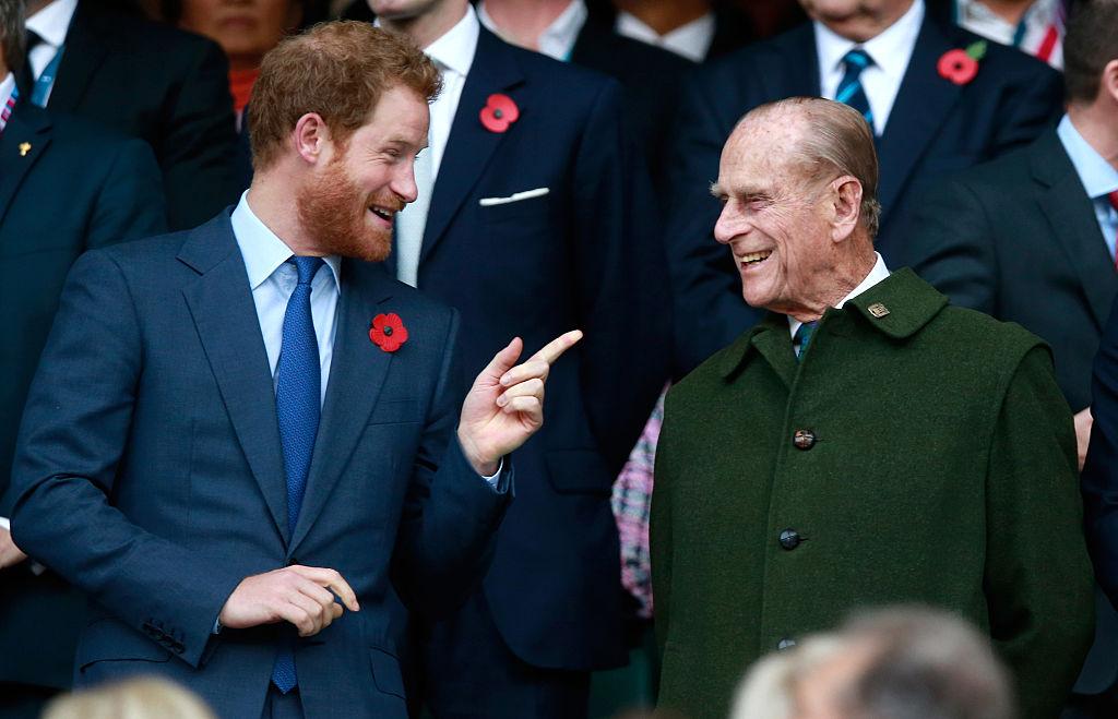 Príncipe Harry e Príncipe Philip