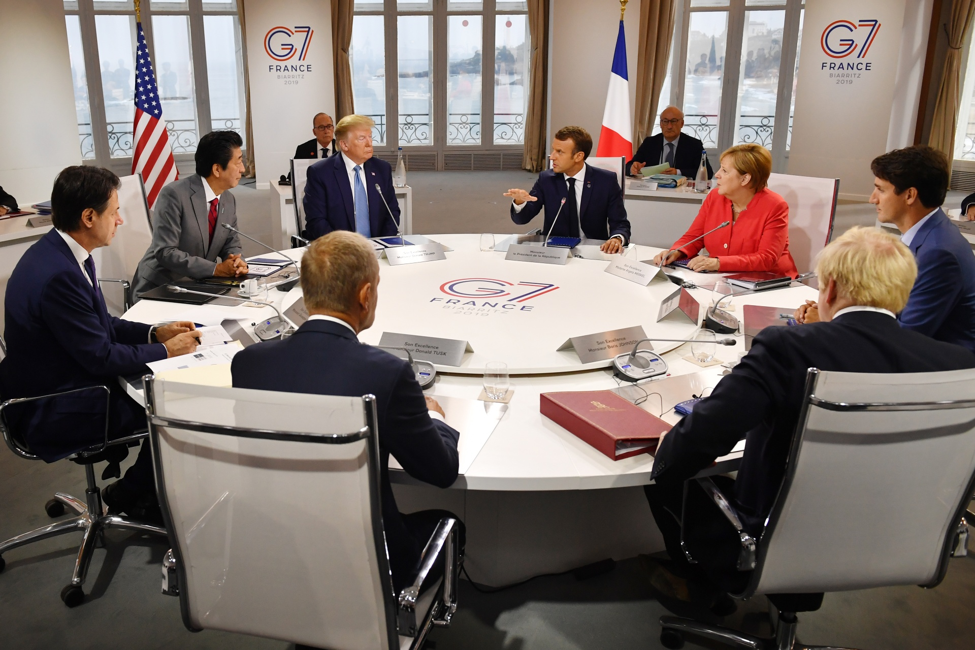 Reunião do G7 em Biarritz, na França, em 2019