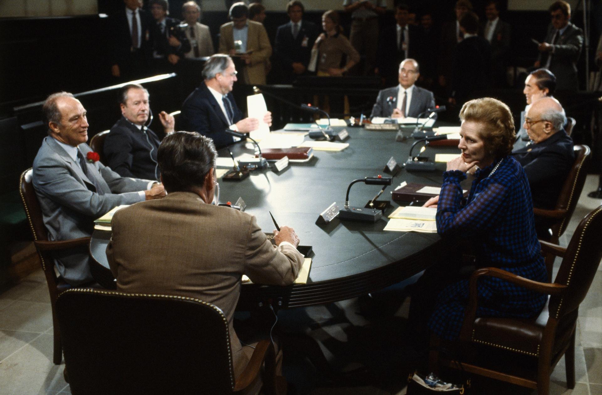 Líderes do G7 se reúnem nos EUA, em 1983