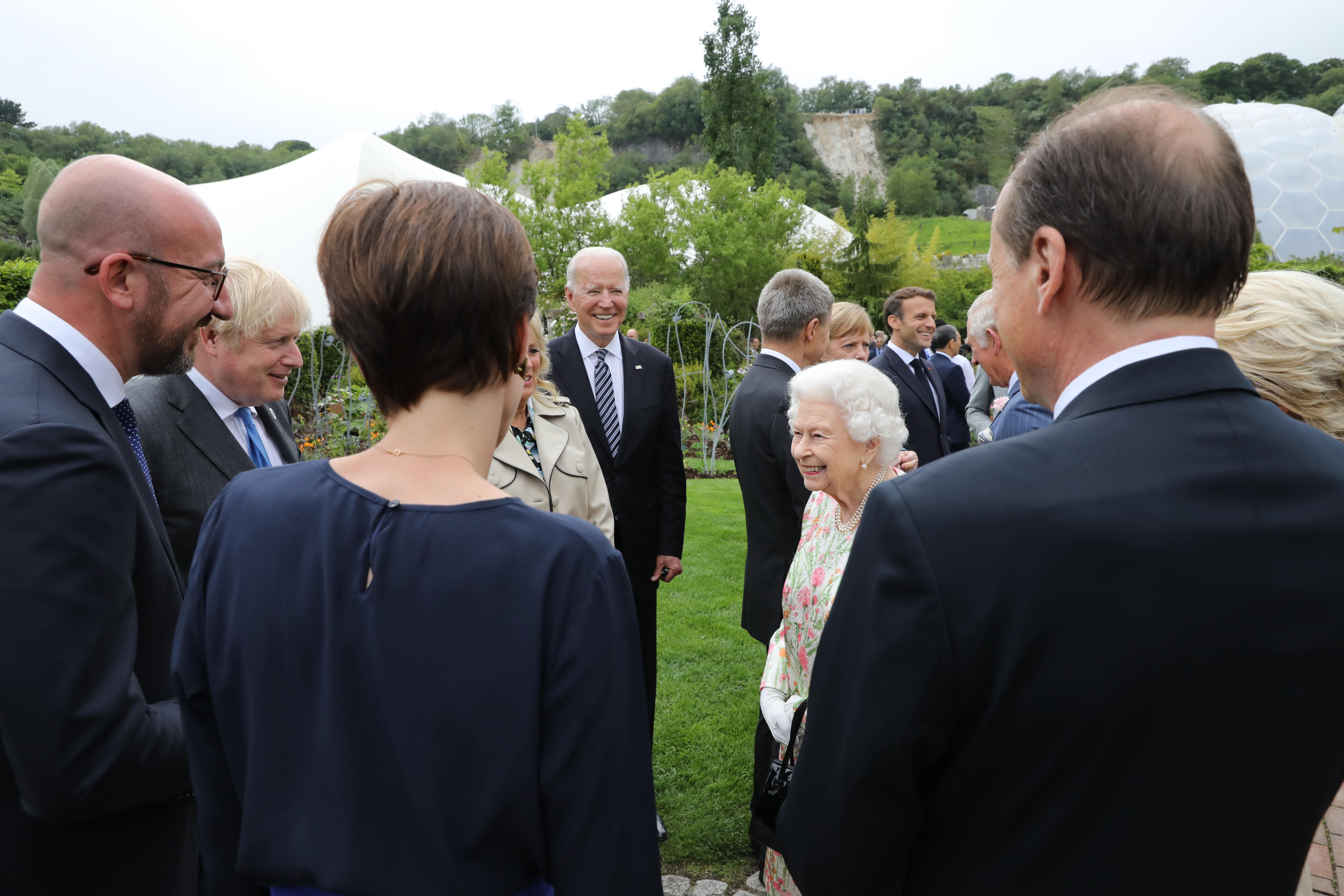 Rainha Elizabeth encontra líderes do G7 no Reino Unido