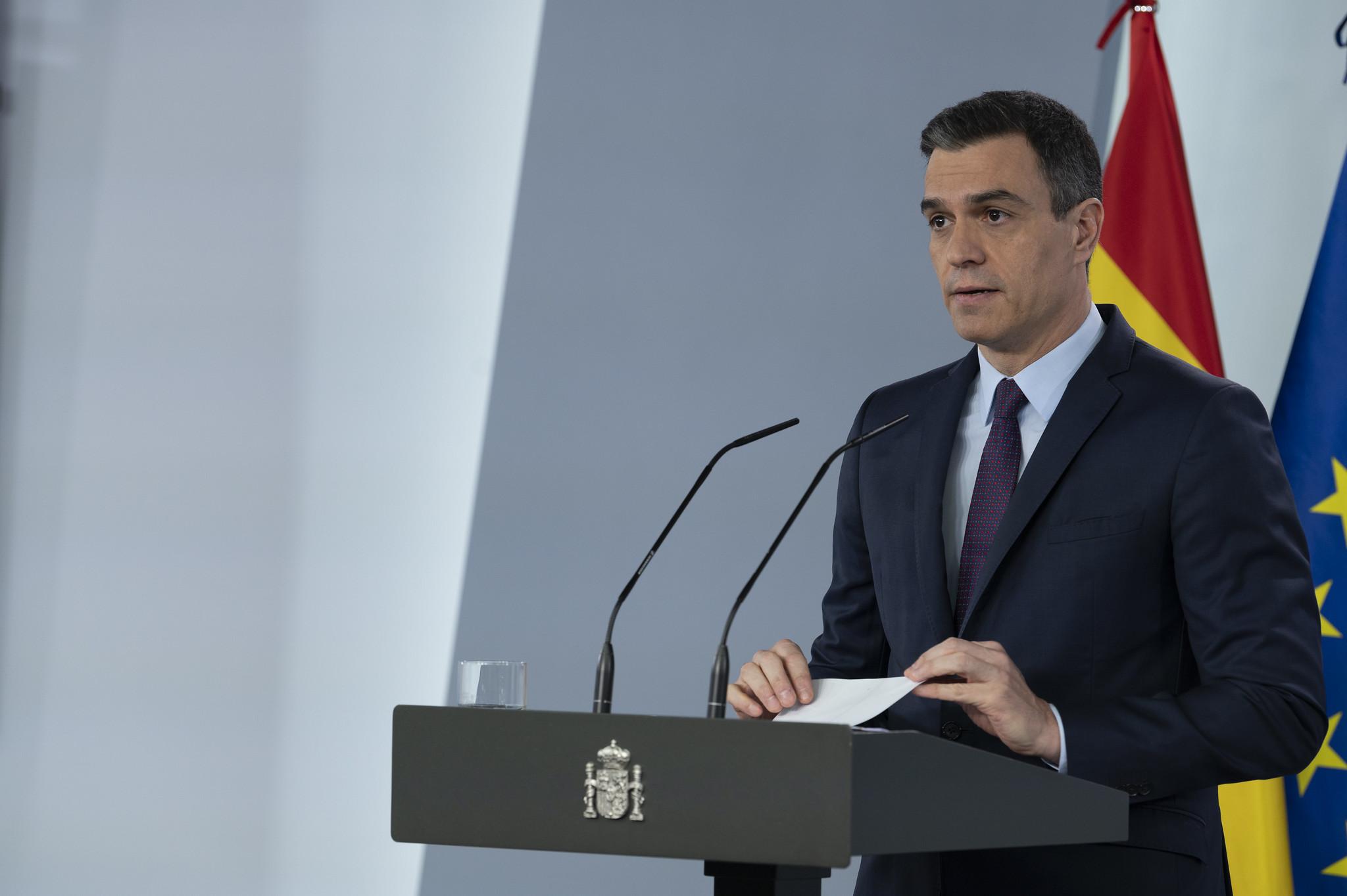 O primeiro-ministro da Espanha, Pedro Sánchez
