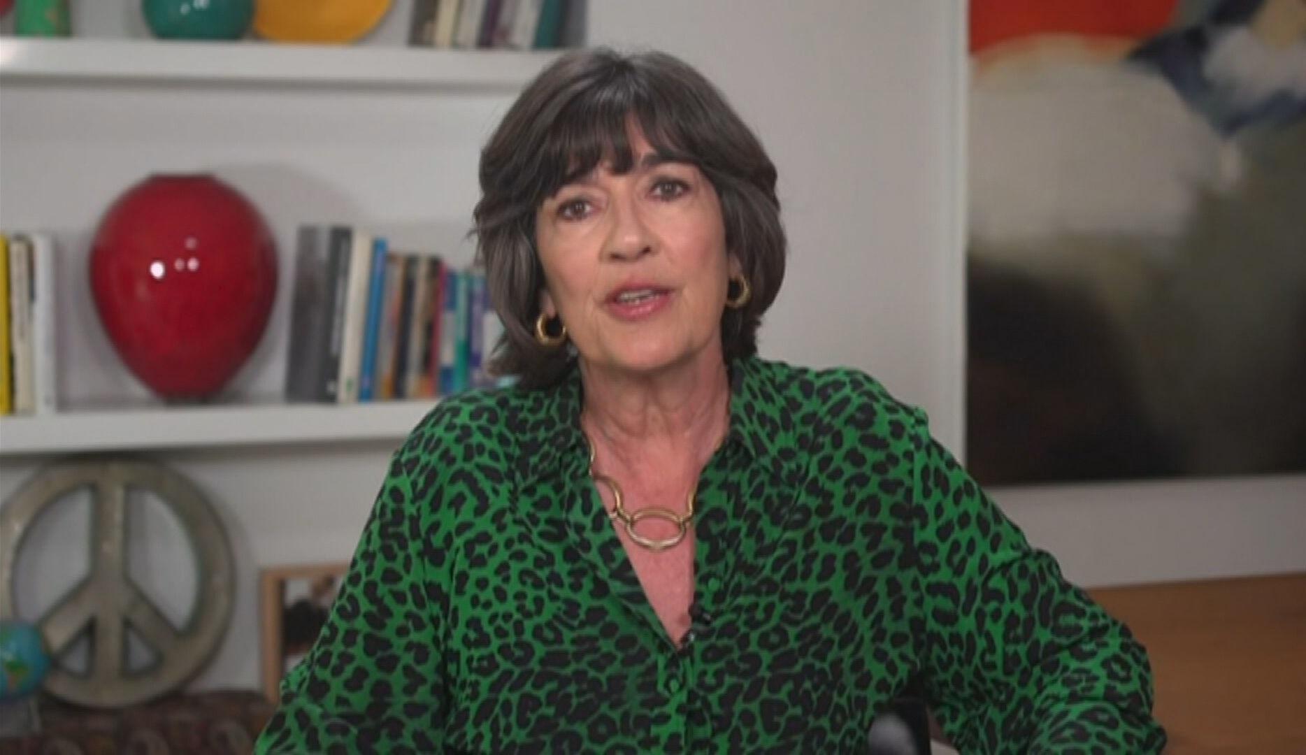 Christiane Amanpour, âncora da CNN, falou sobre diagnóstico de câncer de ovário