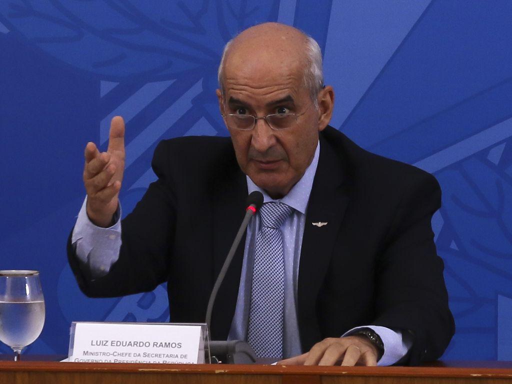 O ministro-chefe da Secretaria de Governo, general Luiz Eduardo Ramos