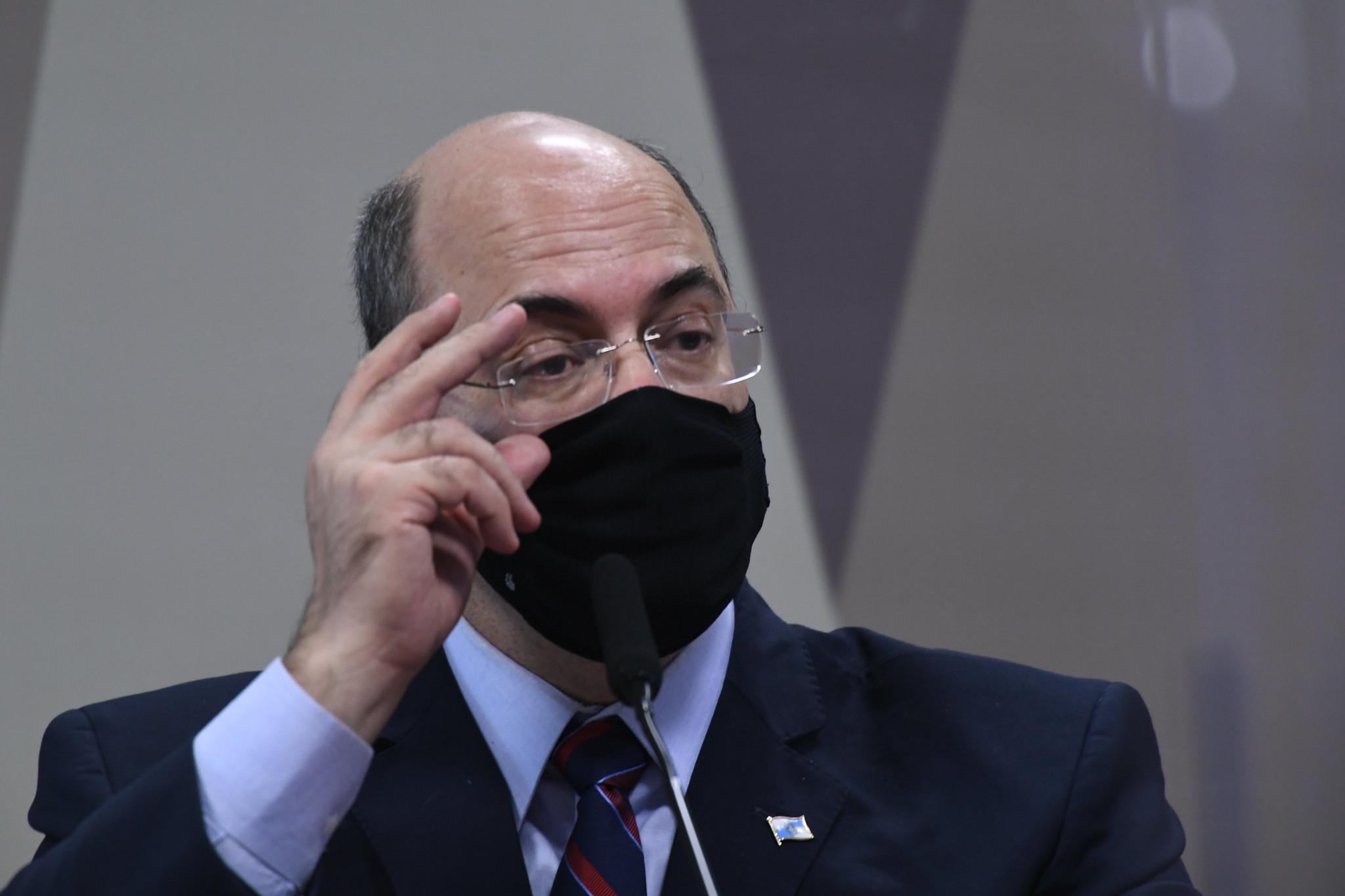Wilson Witzel presta depoimento à CPI
