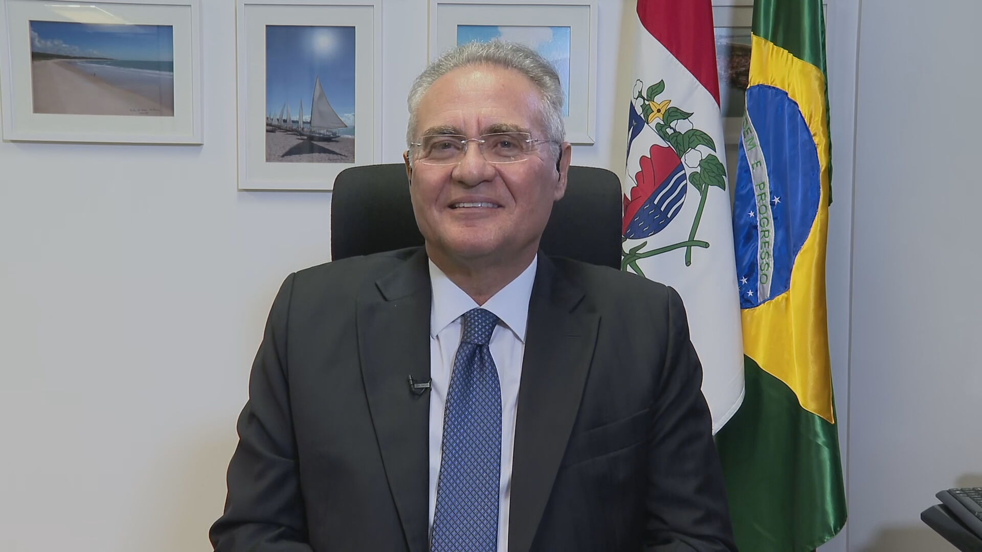 Senador e relator da CPI da Pandemia, Renan Calheiros (MDB-AL) em entrevista à C