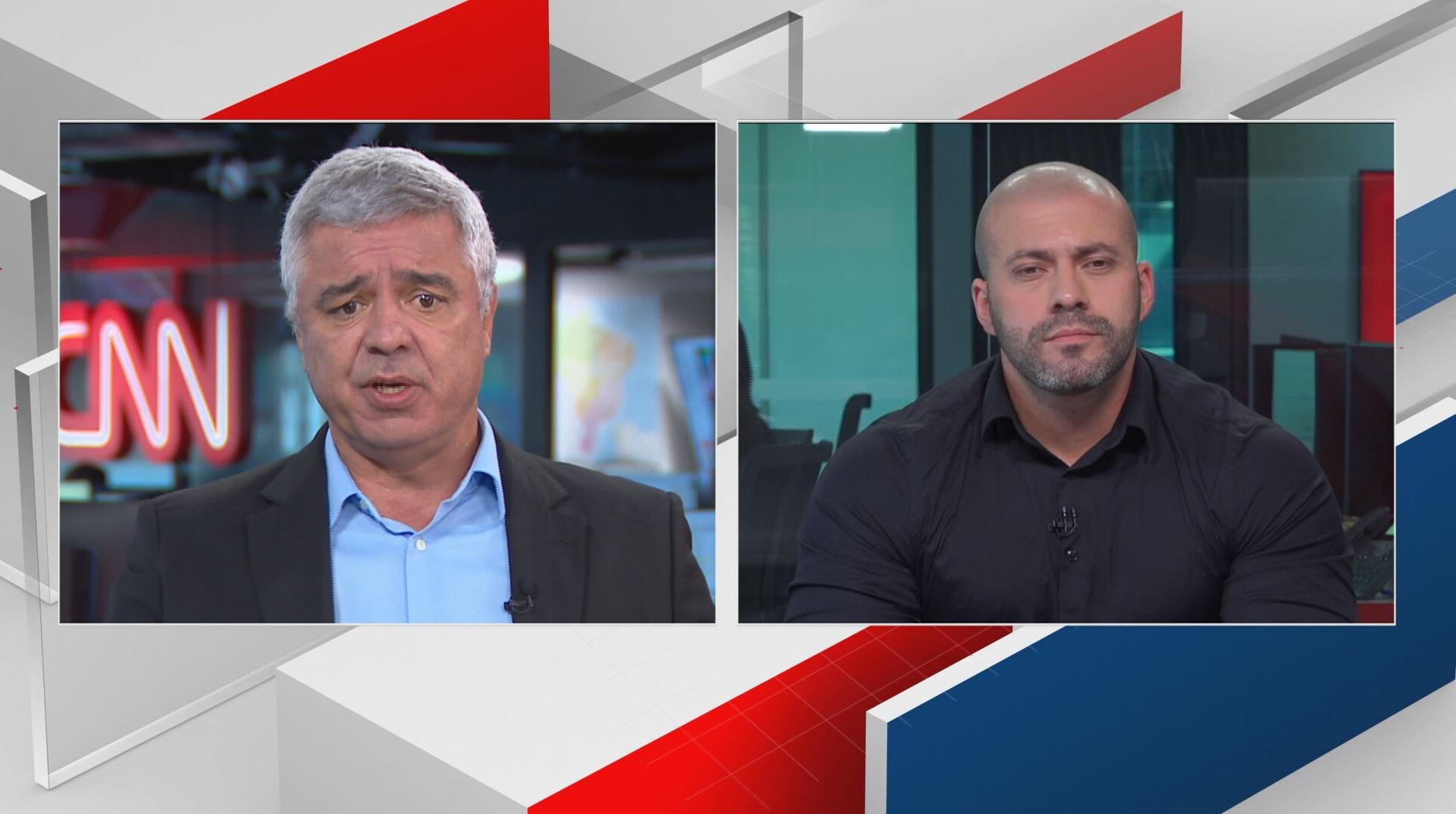 Os deputados Major Olímpio (PSL) e Daniel Silveira (PSL) debatem sobre negociaçã
