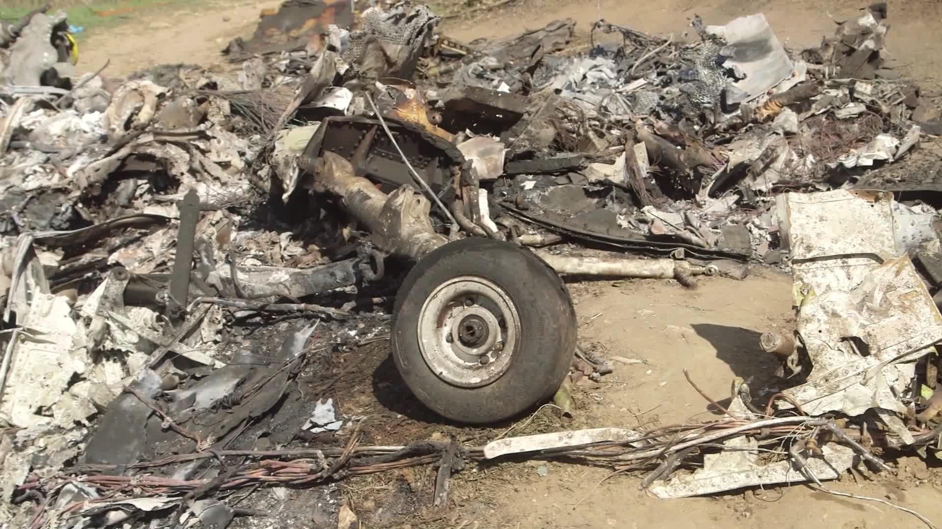 Destroços do helicóptero em acidente de Kobe Bryant