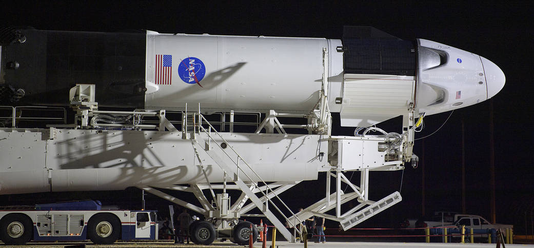 O foguete Falcon 9, da SpaceX