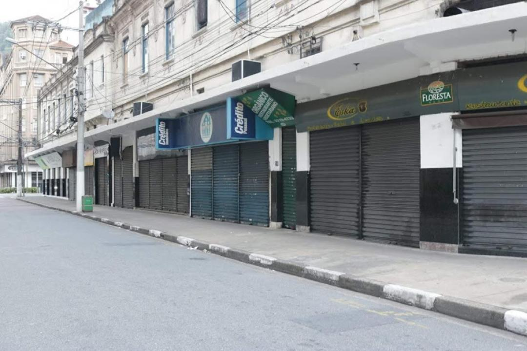 comércio fechado, Santos