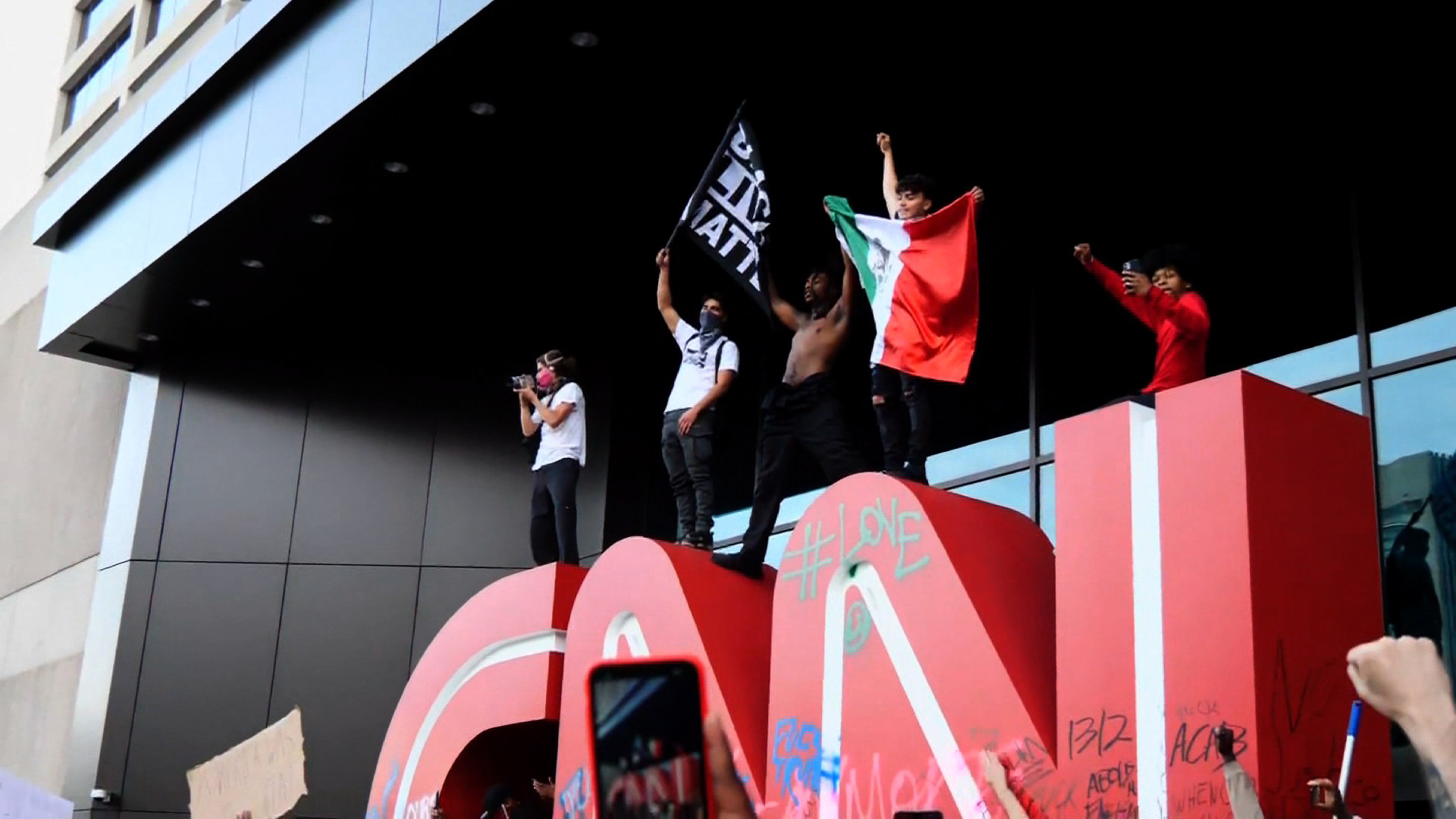 Protesto CNN Atlanta