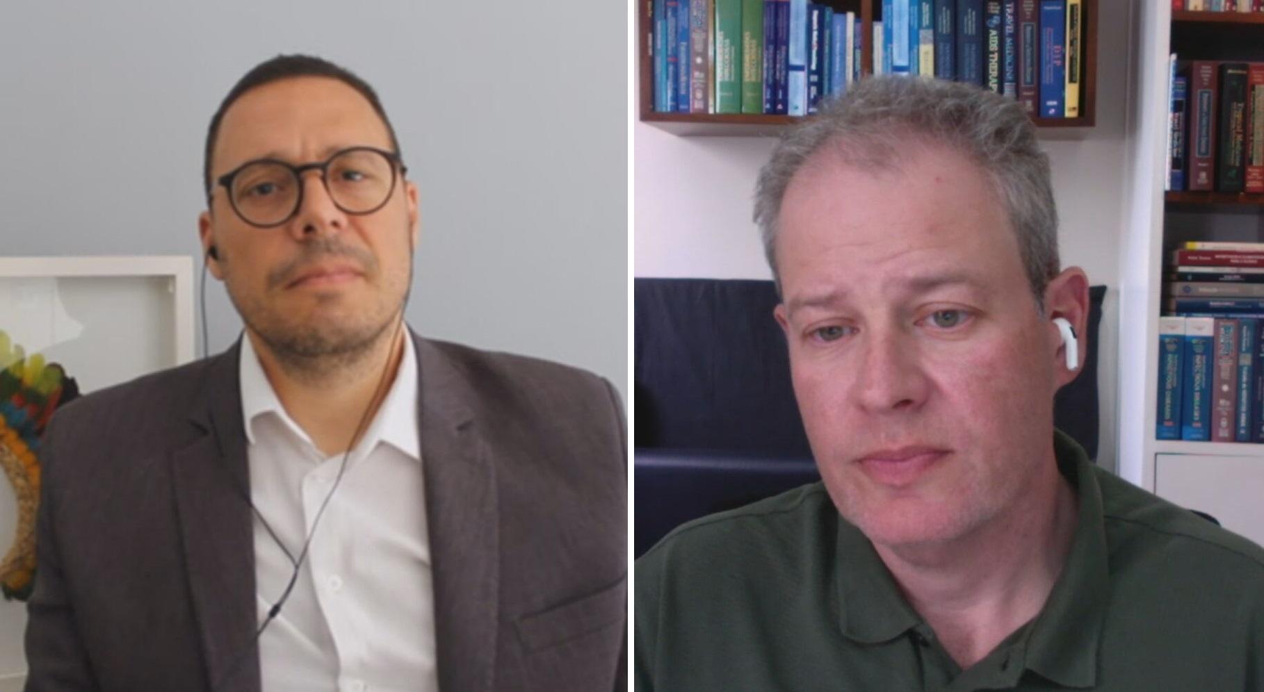 Julio Croda, infectologista e pesquisador da FioCruz, e Sergio Cimerman Presiden