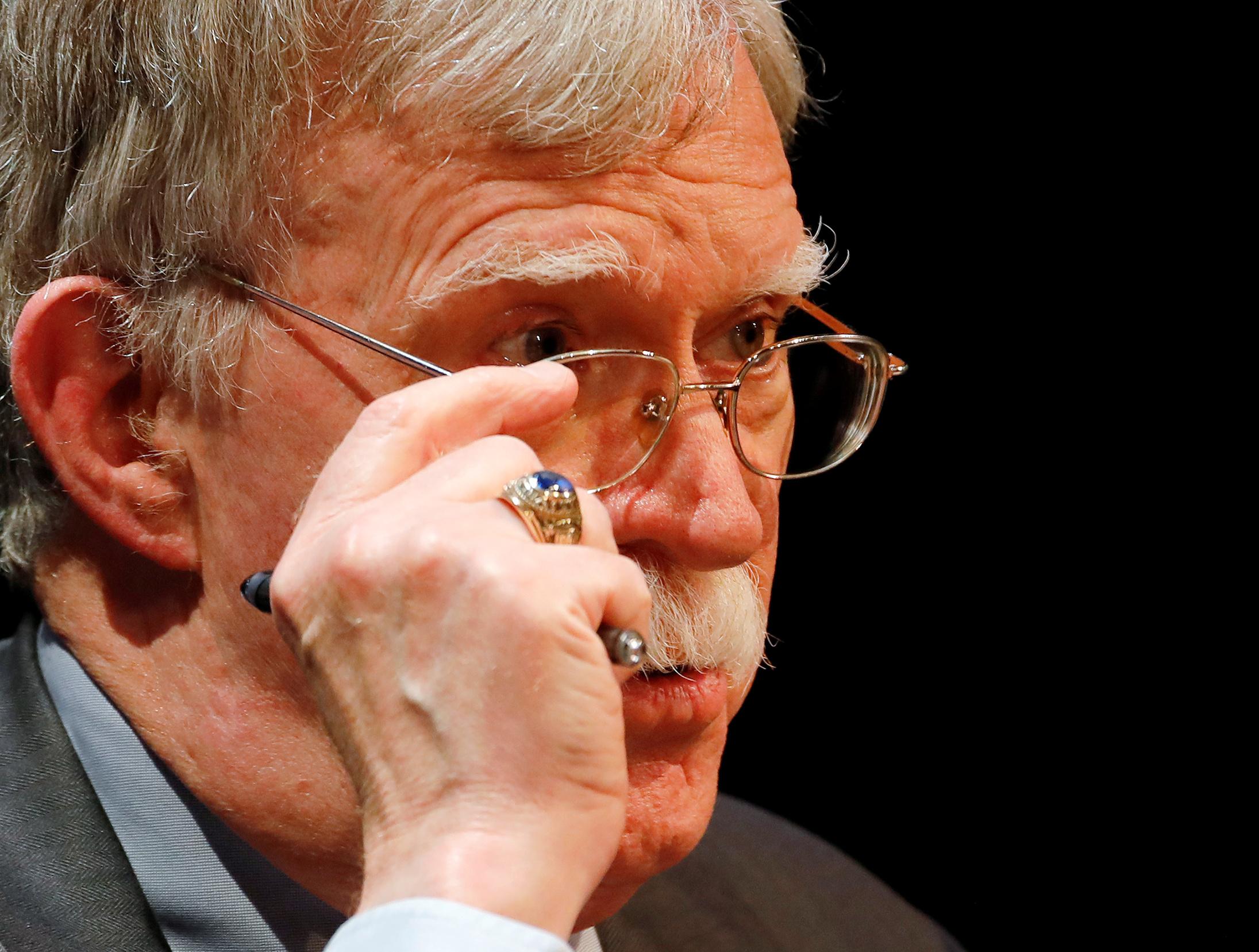 Ex-assessor de segurança nacional da Casa Branca, John Bolton
