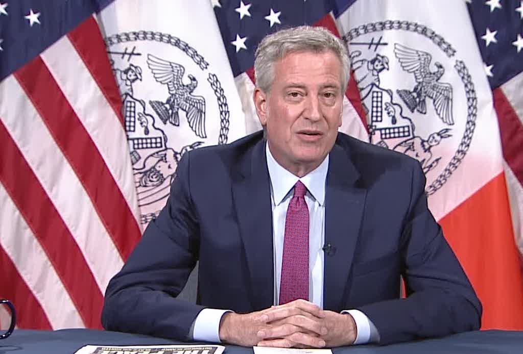O prefeito de Nova York, Bill de Blasio