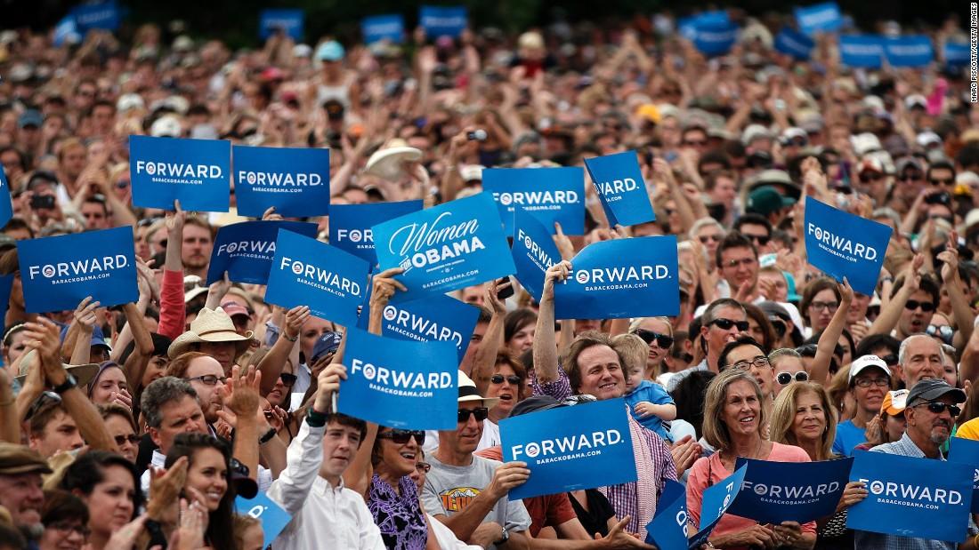 Comício Obama, em 2012.