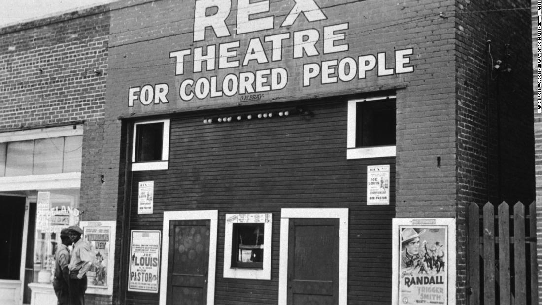 Teatro segregacionista em Leland, Mississippi, na década de 1930