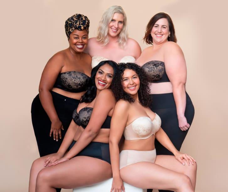 Modelos da Curvy Culture, marca especializada em lingeries