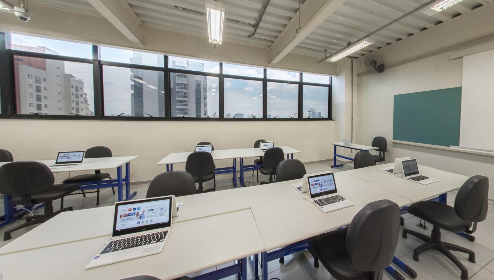 Sala de aula da Uninove, em São Paulo
