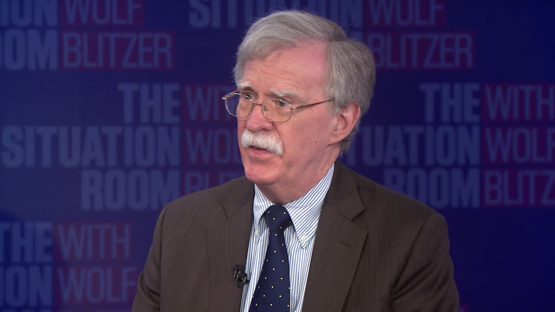 John Bolton no programa 'The Situation Risk', da CNN