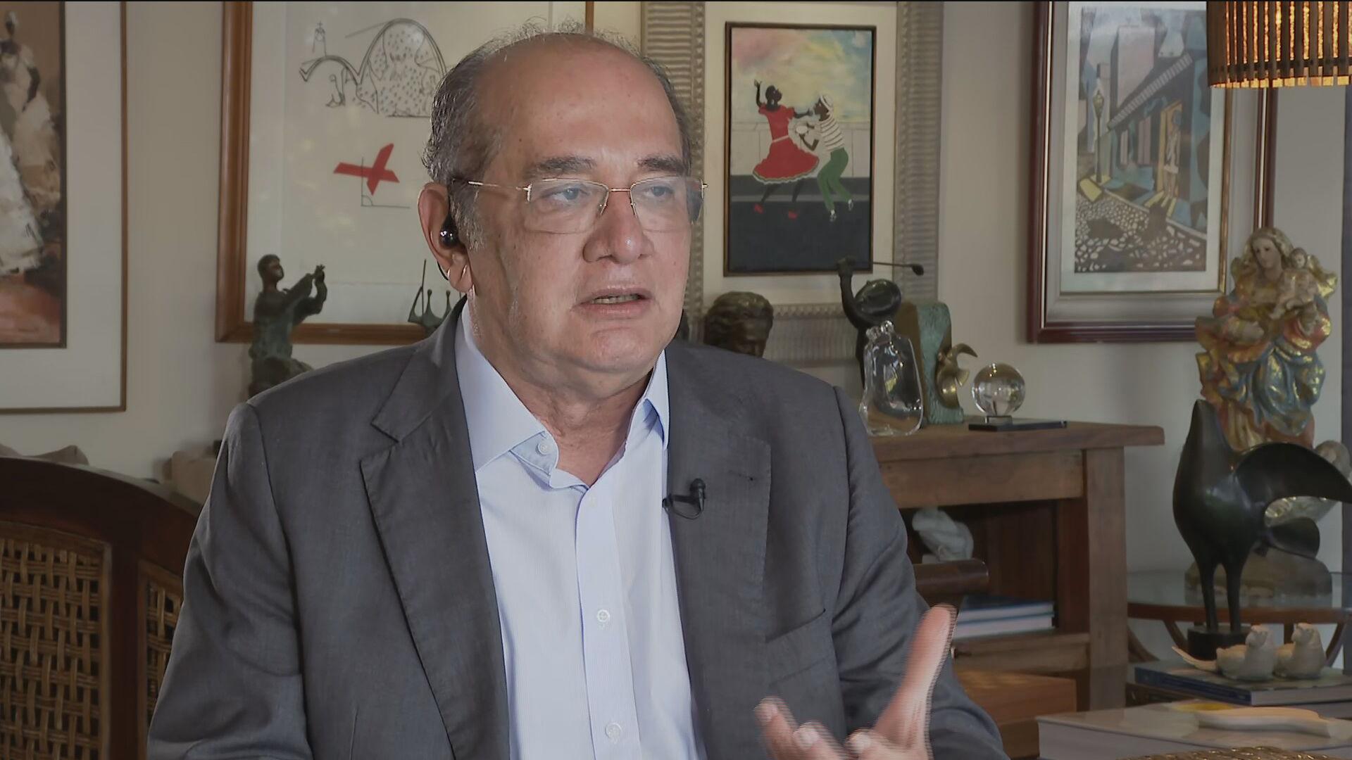 O ministro Gilmar Mendes, do Supremo Tribunal Federal (STF), fala à CNN