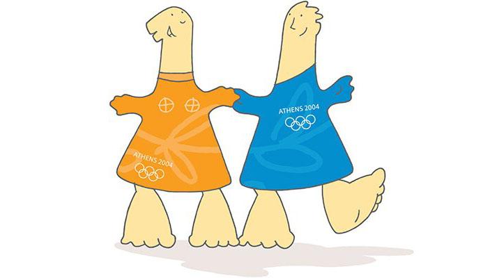 Mascotes da Olimpíada de Atenas 2004