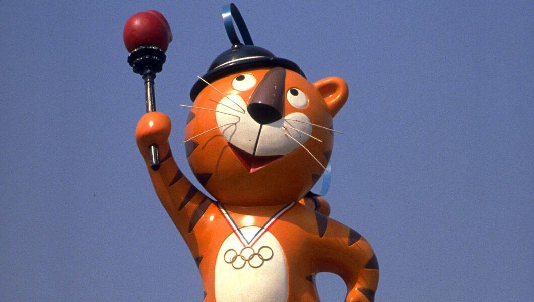 Mascote da Olimpíada de Seul 1988