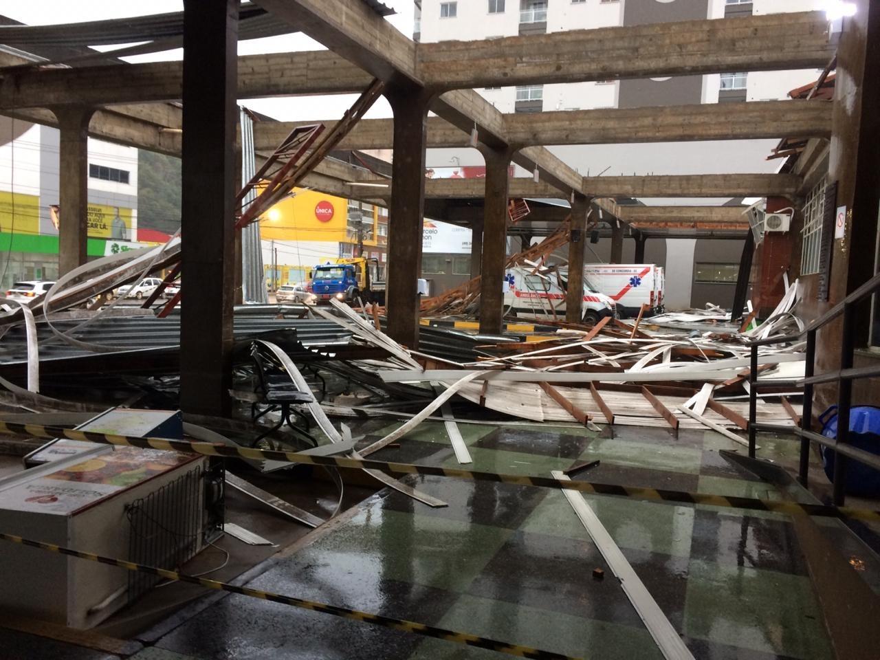 Passagem do ciclone bomba por Concórdia (SC)