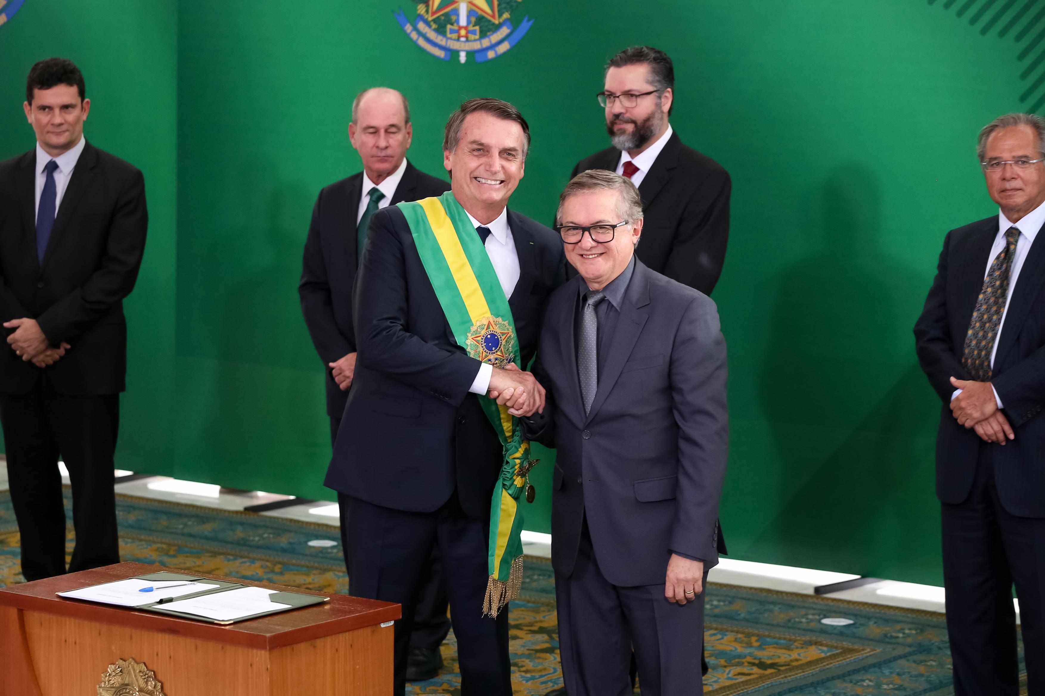 Ricardo Vélez e Jair Bolsonaro