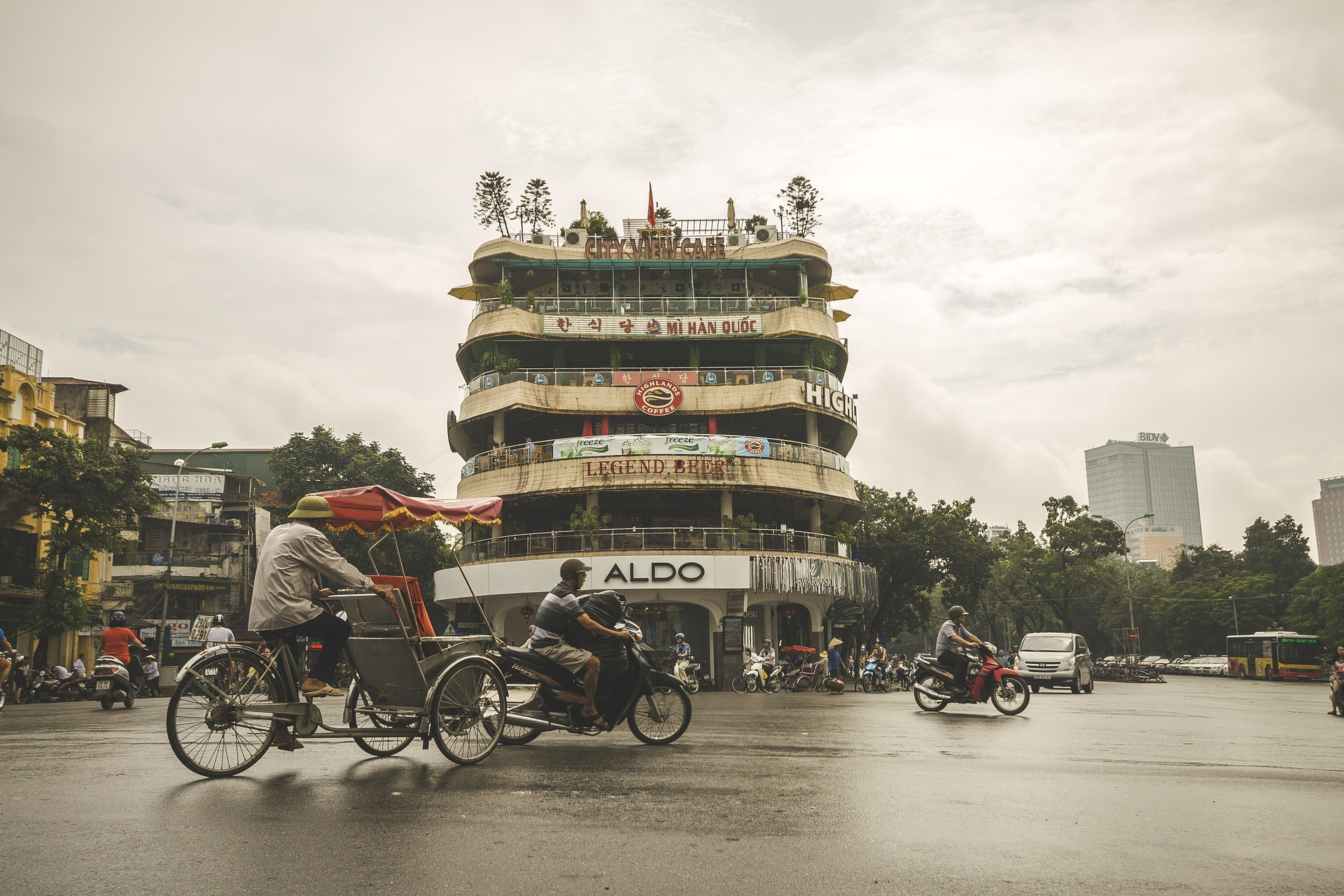 Rua de Hanói, no Vietnã