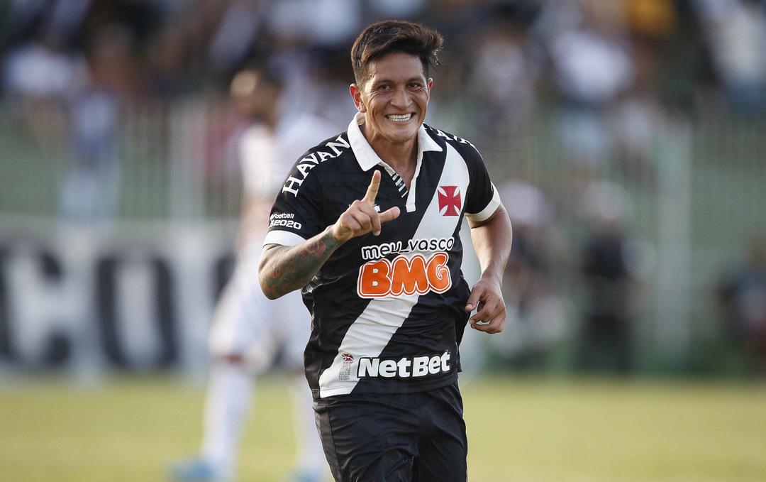 German Cano comemora seu gol contra a Portuguesa-RJ (09.fev.2020)