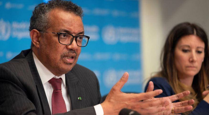 Diretor-geral da Organização Mundial da Saúde (OMS), Tedros Adhanom liderou coletiva com atualizações sobre o coronavírus (COVID-19) em Geneva, Suíça (16.mar.2020)